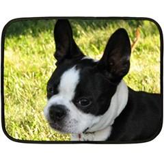 Boston Terrier Puppy Double Sided Fleece Blanket (Mini)