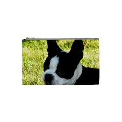 Boston Terrier Puppy Cosmetic Bag (Small)