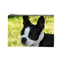 Boston Terrier Puppy Cosmetic Bag (Large)
