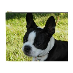 Boston Terrier Puppy Cosmetic Bag (XL)