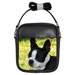 Boston Terrier Puppy Girls Sling Bags