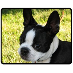 Boston Terrier Puppy Fleece Blanket (Medium)
