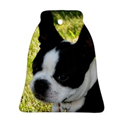 Boston Terrier Puppy Bell Ornament (2 Sides)