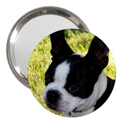 Boston Terrier Puppy 3  Handbag Mirrors