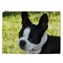 Boston Terrier Puppy Cosmetic Bag (XXL)