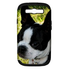 Boston Terrier Puppy Samsung Galaxy S III Hardshell Case (PC+Silicone)