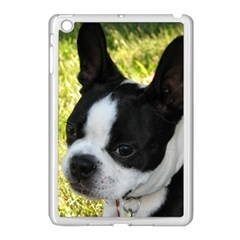 Boston Terrier Puppy Apple iPad Mini Case (White)