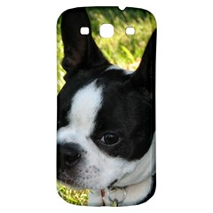 Boston Terrier Puppy Samsung Galaxy S3 S III Classic Hardshell Back Case