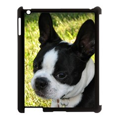Boston Terrier Puppy Apple iPad 3/4 Case (Black)