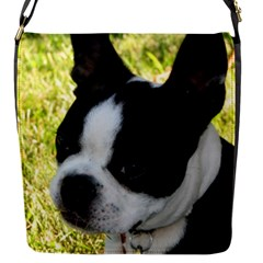Boston Terrier Puppy Flap Messenger Bag (S)