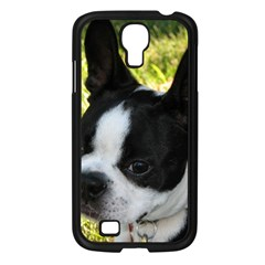 Boston Terrier Puppy Samsung Galaxy S4 I9500/ I9505 Case (Black)