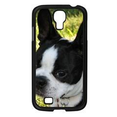 Boston Terrier Puppy Samsung Galaxy S4 I9500/ I9505 Case (Black)