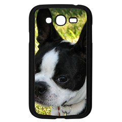 Boston Terrier Puppy Samsung Galaxy Grand DUOS I9082 Case (Black)