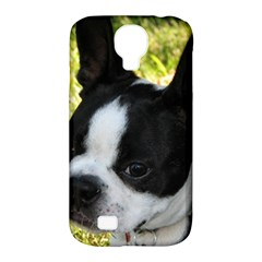 Boston Terrier Puppy Samsung Galaxy S4 Classic Hardshell Case (PC+Silicone)