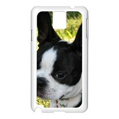 Boston Terrier Puppy Samsung Galaxy Note 3 N9005 Case (White)