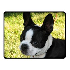 Boston Terrier Puppy Double Sided Fleece Blanket (Small)