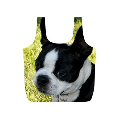 Boston Terrier Puppy Full Print Recycle Bags (S)