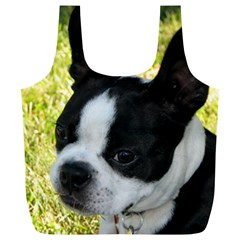 Boston Terrier Puppy Full Print Recycle Bags (L)