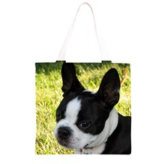 Boston Terrier Puppy Grocery Light Tote Bag