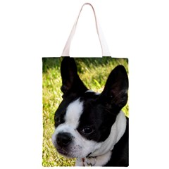 Boston Terrier Puppy Classic Light Tote Bag