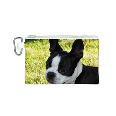 Boston Terrier Puppy Canvas Cosmetic Bag (S)