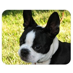 Boston Terrier Puppy Double Sided Flano Blanket (Medium)