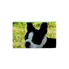 Boston Terrier Puppy Cosmetic Bag (XS)
