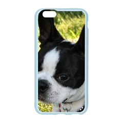 Boston Terrier Puppy Apple Seamless iPhone 6/6S Case (Color)