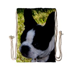 Boston Terrier Puppy Drawstring Bag (Small)