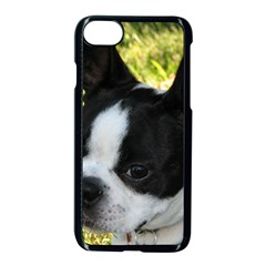 Boston Terrier Puppy Apple iPhone 7 Seamless Case (Black)
