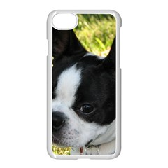 Boston Terrier Puppy Apple iPhone 7 Seamless Case (White)