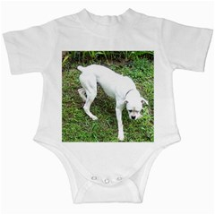 Boxer White Puppy Full Infant Creepers