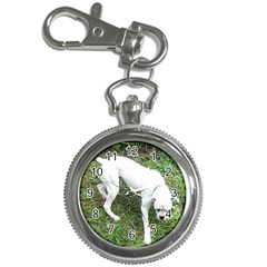 Boxer White Puppy Full Key Chain Watches