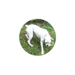 Boxer White Puppy Full Golf Ball Marker