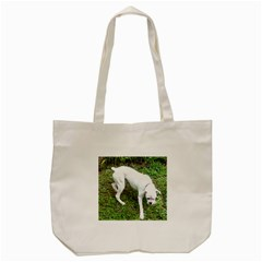 Boxer White Puppy Full Tote Bag (Cream)