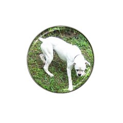 Boxer White Puppy Full Hat Clip Ball Marker