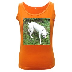 Boxer White Puppy Full Women s Dark Tank Top