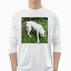 Boxer White Puppy Full White Long Sleeve T-Shirts