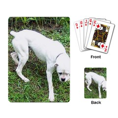 Boxer White Puppy Full Playing Card