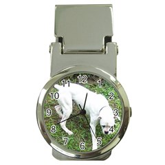Boxer White Puppy Full Money Clip Watches