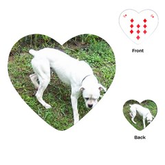 Boxer White Puppy Full Playing Cards (Heart)