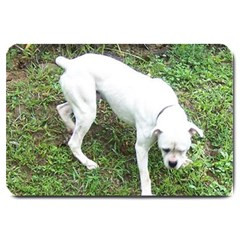 Boxer White Puppy Full Large Doormat