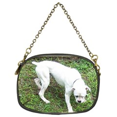 Boxer White Puppy Full Chain Purses (One Side)