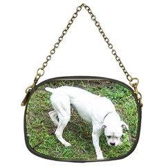 Boxer White Puppy Full Chain Purses (Two Sides)
