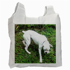 Boxer White Puppy Full Recycle Bag (One Side)