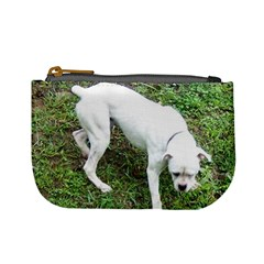 Boxer White Puppy Full Mini Coin Purses