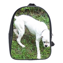 Boxer White Puppy Full School Bags(Large)