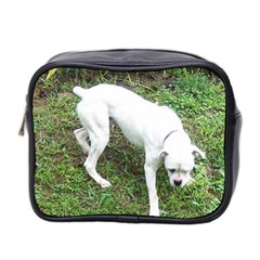 Boxer White Puppy Full Mini Toiletries Bag 2-Side