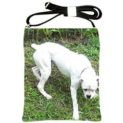 Boxer White Puppy Full Shoulder Sling Bags