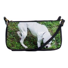 Boxer White Puppy Full Shoulder Clutch Bags